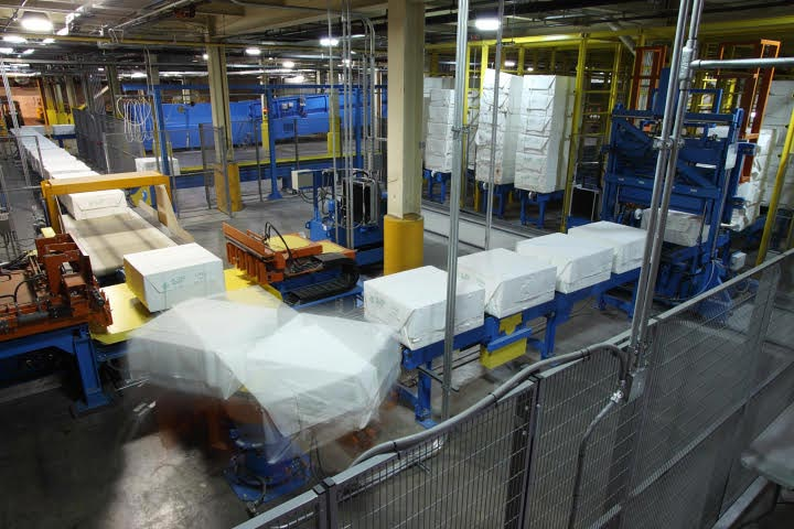Fully automated handling system for paper for receiving, destacking and dewiring